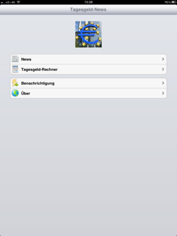 Tagesgeld News App iPad