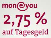 MoneYou Tagesgeldkonto im Vergleich