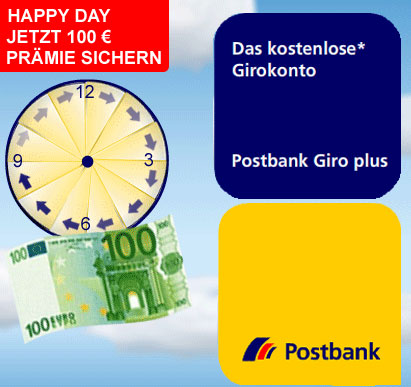 Happy Day Aktion Postbank