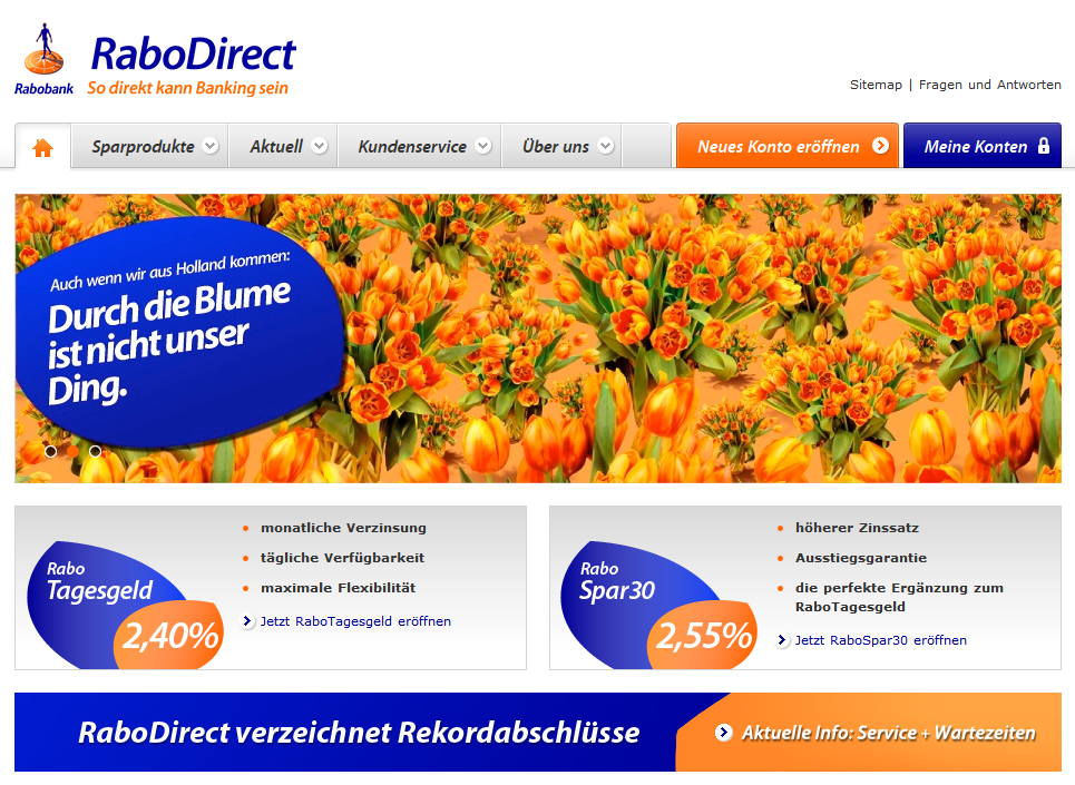 Screenshot RaboDirect