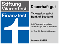 Bank of Scotland Stiftung Warentest