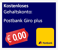 Postbank Giro plus Gehaltskonto