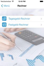 Tagesgeld-News App - Übersicht Rechner