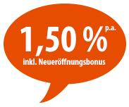 Jetzt sogar 1,50% Zinsen beim PSD Bank Hessen Thüringen Tagesgeld