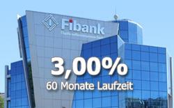 Fibank mit bis zu 3,00% Zinsen jährlich