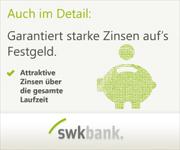 SWK Bank Festgeld mit bis zu 2,15% Zinsen jährlich