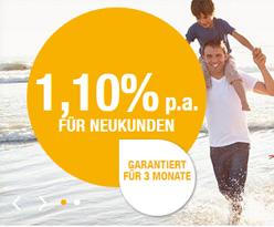 Empfehlung - Bis zu 1,10% Zinsen beim Renault Bank direkt Tagesgeld fuer Neukunden inkl. 3-monatiger Zinsgarantie