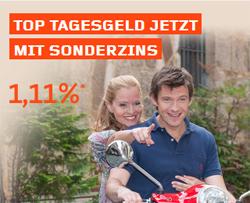 Empfehlung - Bis zu 1,11% Zinsen beim W�stenrot Bank Tagesgeld fuer Neukunden inkl. 4-monatiger Zinsgarantie