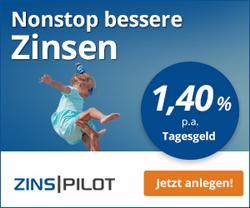 Empfehlung - FIMBank Tagesgeld mit 1,40% Zinsen + Zinsgarantie
