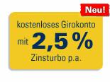1822direkt GiroAll mit 2,50% Tagesgeld-Zinsen