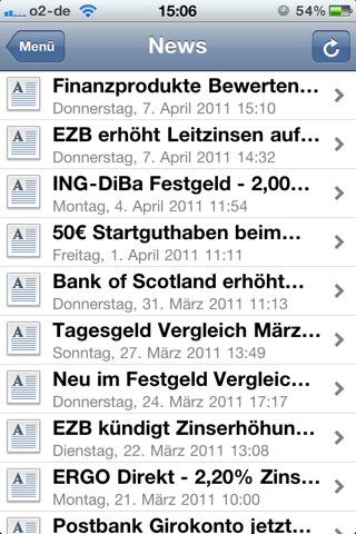 Tagesgeld-News.de App News Übersicht