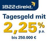 1822direkt Tagesgeldkonto mit verlängerter Zinsgarantie