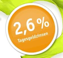 DAB Bank Tagesgeld Aktion mit 2,60% Zinsen