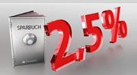 Santander Bank Top-Sparbuch mit 2,50% Zinsen