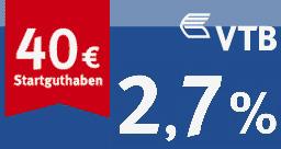 VTB Tagesgeld mit Startguthaben
