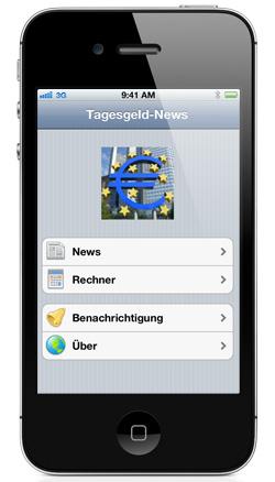 kostenlose Tagesgeld News App für iPhone und iPad