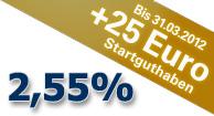 1822direkt Tagesgeld mit 25€ Startguthaben