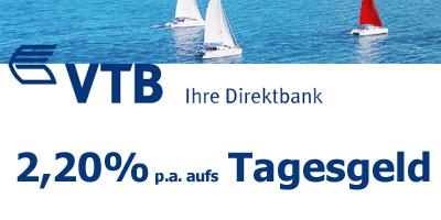 VTB Direktbank Tagesgeld mit 2,20%