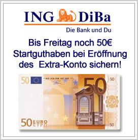 ING Diba Extra-Konto Startgeld