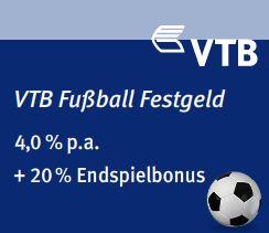 VTB Fussball Festgeld