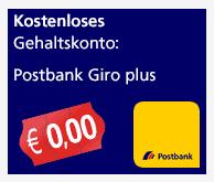 Postbank Giro plus Gehaltskonto