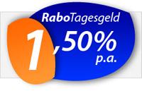 RaboTagesgeld mit 1,50% Zinsen jährlich