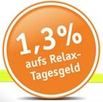 dab bank Relax-Tagesgeld mit 1,30% Zinsen p.a.