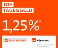 Wüstenrot direct Top Tagesgeld mit 1,25% Zinsen p.a.