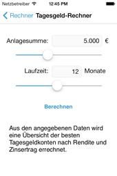 Tagesgeld-News App - Parameter auswählen