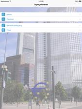 Tagesgeld-News App für das iPad - Startbildschirm