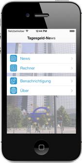 kostenlose Tagesgeld-News.de App für iOS