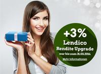 Lendico für Anleger mit 3%-Rendite-Upgrade