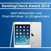 BankingCheck Award 2014 Gewinnspiel