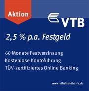 VTB Direktbank Jubiläumszinsen beim Festgeld