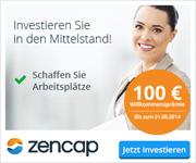 Zencap Anlegerkonto mit 100€ Willkommensbonus