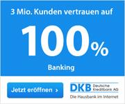 DKB Cash feiert den 3 millionsten Kunden