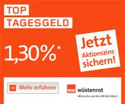 Wüstenrot direct Top Tagesgeld Mit bis zu 1,30% Aktionszinsen p.a.