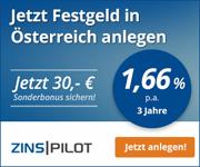Austrian Anadi Bank mit bis zu 1,66% Zinsen aufs Festgeld