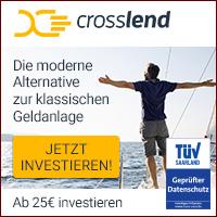 CrossLend Geldanlage mit bis zu 14,08% Rendite