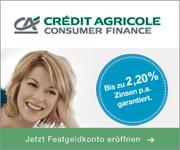 CA Consumer Finance Festgeld mit bis zu 2,20% Zinsen p.a.