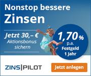 FIMBank Festgeld - jetzt mit 1,70% Zinsen bei der 12-monatigen Anlage
