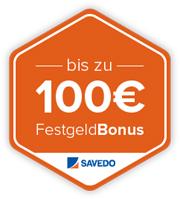 Bis zu 100€ Bonus bei Savedo