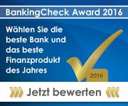 BankingCheck Award 2016 - Jetzt mitmachen und bewerten!