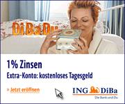 Bis zu 1,00% Zinsen p.a. beim ING-DiBa Extra-Konto für Neukunden