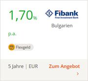 Fibank Flexgeld mit 1,00% Basisverzinsung