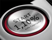 Audi Bank Tagesgeldkonto mit bis zu 1,10% Zinsen für Neukunden
